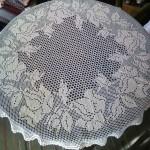 Плетена покривка на една кука